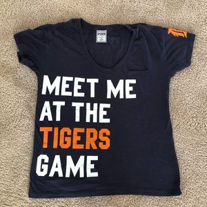 PINK BY VS MEET ME AT THE TIGERS GAME SHIRT